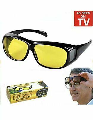 Hd Anti Riflesso Visione Notturna Guida Occhiali Da Sole Unisex Sopra Avvolgere Intorno Occhiali-mostra Il Titolo Originale