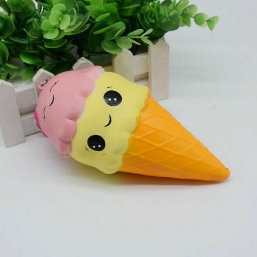 HUGE SQUISHY ICE CREAM CONE SLOW RISING GIANT SCENTED TOY KIDS--Free Shipping