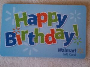 Image Is Loading NEW Unused Walmart Happy Birthday Gift Card COLLECTIBLE