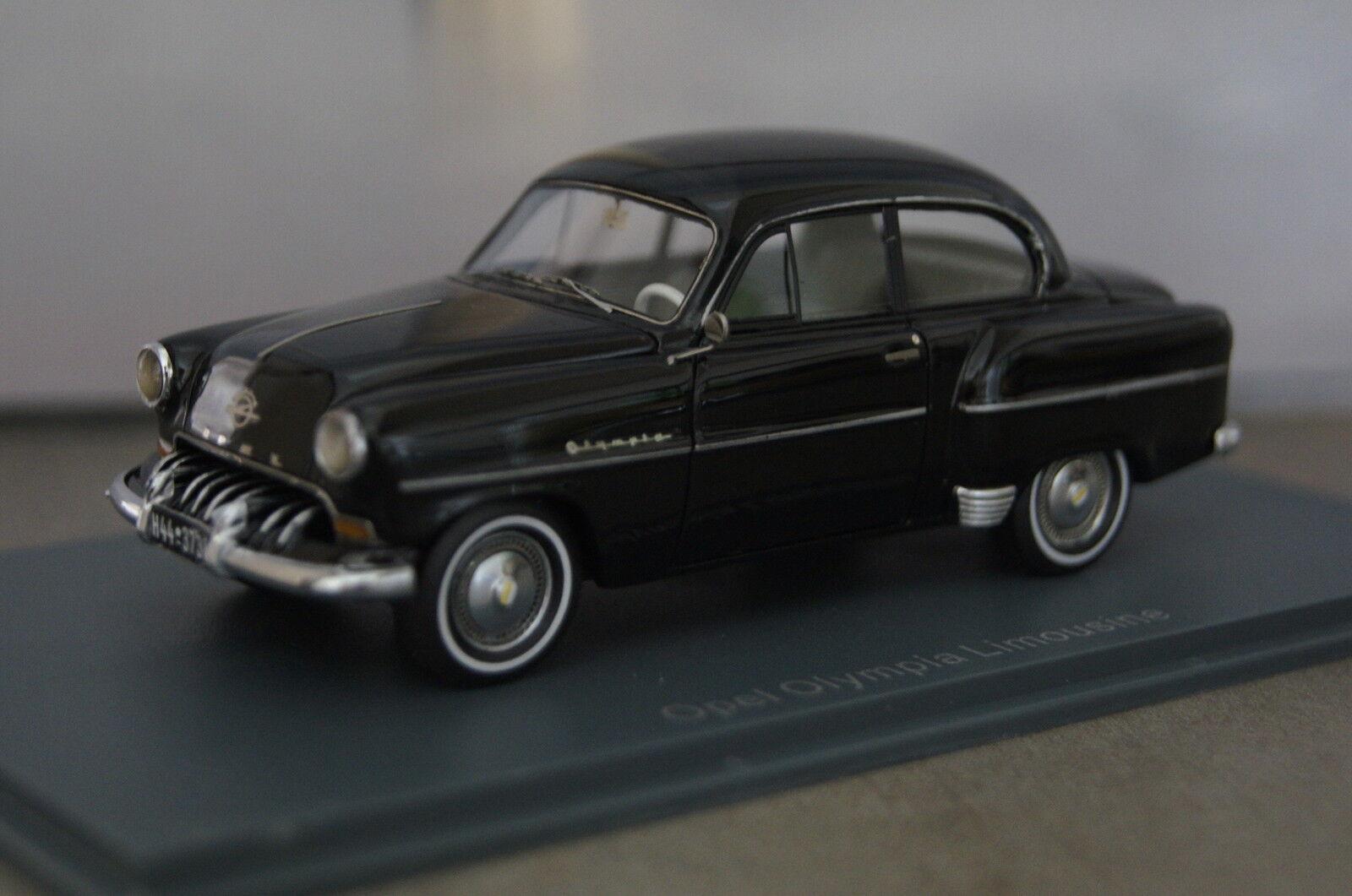 Garantía 100% de ajuste Opel Olympia LIMOUSINE LIMOUSINE LIMOUSINE NEGRO 1 43 neo nuevo & OVP  marca de lujo