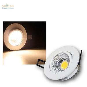 LED-Alu-Einbaustrahler-3W-COB-warmweiss-230V-Deckenleuchte-Einbauleuchte-SPOT