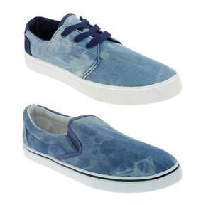 5f841f8ab8fbb5 Das Bild wird geladen Herren-Slipper-Leinenschuhe-Freizeitschuhe-Vintage- Schuhe-Jeans-Denim-