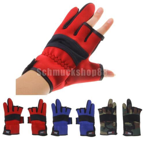 Neopren Handschuhe Angler Handschuh Winterhandschuhe Angelhandschuhe