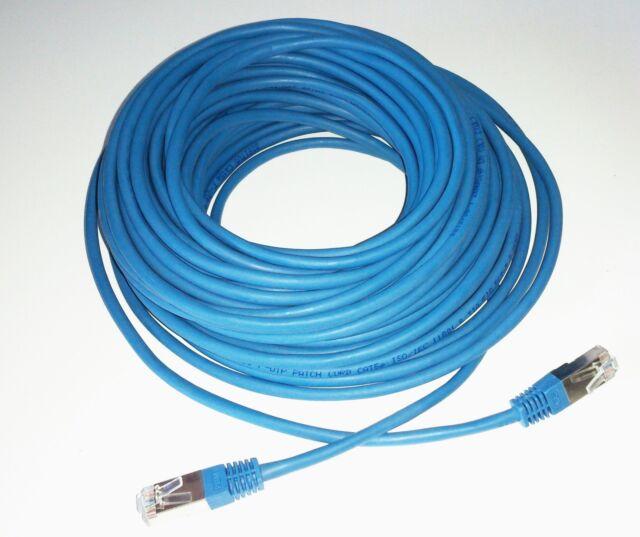 Patchkabel CAT 5E F-UTP Patchkabel Netzwerkkabel  Ethernet LAN Kabel 20m Blau