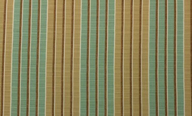 "SUNBRELLA 8061 CHELSEA WILLOW SPA BEIGE STRIPE OUTDOOR FABRIC BY THE YARD 54"" W"