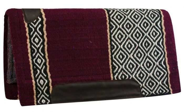 36 x34  Cutter STYLE WESTERN SADDLE PAD avec Bordeaux & blanc Diamond design  NEUF