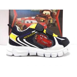 Bambino Scarpe Cars Disney Strappo Sneakers Blu Sportive Ginnastica 4qxRwFpU