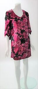 Kenneth-Cole-Multi-Color-Pink-Print-Shift-Dress-NWT-MSRP-139-Sz-XS-M-L