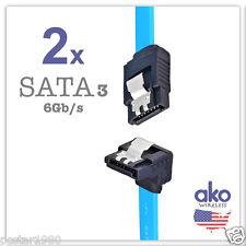 """2-PACK 18"""" Serial ATA SATA 3.0 SATA3 DATA CABLE Angle HDD Hard Drive 6Gb/s LOT"""