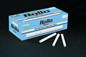 1000-NEW-KING-SIZE-25mm-FILTER-BLUE-LIGHTS-ROLLO-TUBE-Cigarrette-Tobbacco