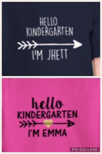 Back To School Shirts Hello Grade My name is YOUR NAME Custom Grade and Name