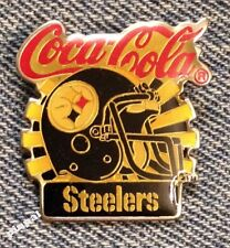 Pittsburgh Steelers Pin~NFL~Football~80's vintage~Coca Cola Coke~New Old Stock