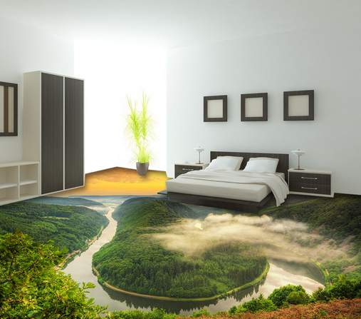 3D Nature At Dusk 23 Floor Wall Paper Wall Print Decal Wall Deco AJ WALLPAPER