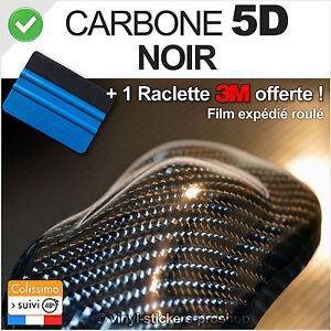 carbone 5d noir 152cm x 70cm film vinyle autocollant outil de pose 3m moto ebay. Black Bedroom Furniture Sets. Home Design Ideas