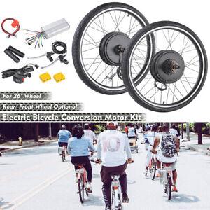 """26"""" Electric Bicycle E Bike Conversion Kit Cycling Front Rear Wheel 500W 1000W"""