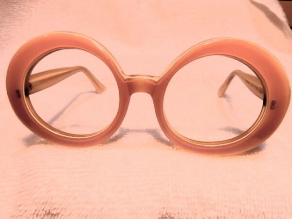 1964 Rotondo Francese Montatura Occhiali In Rosa ! Nuove E Mai Venduto! Scarce