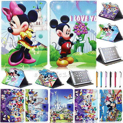 """Cartoon Universal Leather Stand Folio Case Cover For Tablet PAD 9.7"""" 10"""" 10.1"""""""