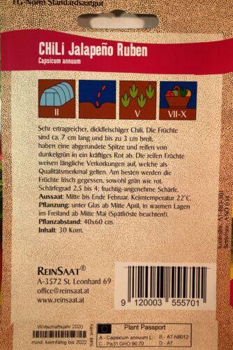 show original title Details about  /Chili Jalapeno Ruben-SEEDS-SEED-Bio Austria-Organic