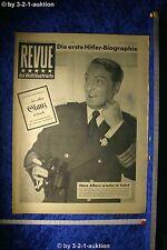 Revue Illustrierte Nr. 43 1952 25.10.52 Hans Albers Geburtstagszeitung
