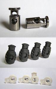 Métal Cordon Serrures-Très Durable - 2 pcs/cordon en plastique Locks-Black - 4 pcs  </span>