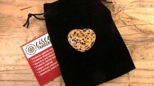 Dalmatian-Jasper-Reiki-Healing-Crystal-Puff-Heart-30mm-with-Pouch-Info-Card