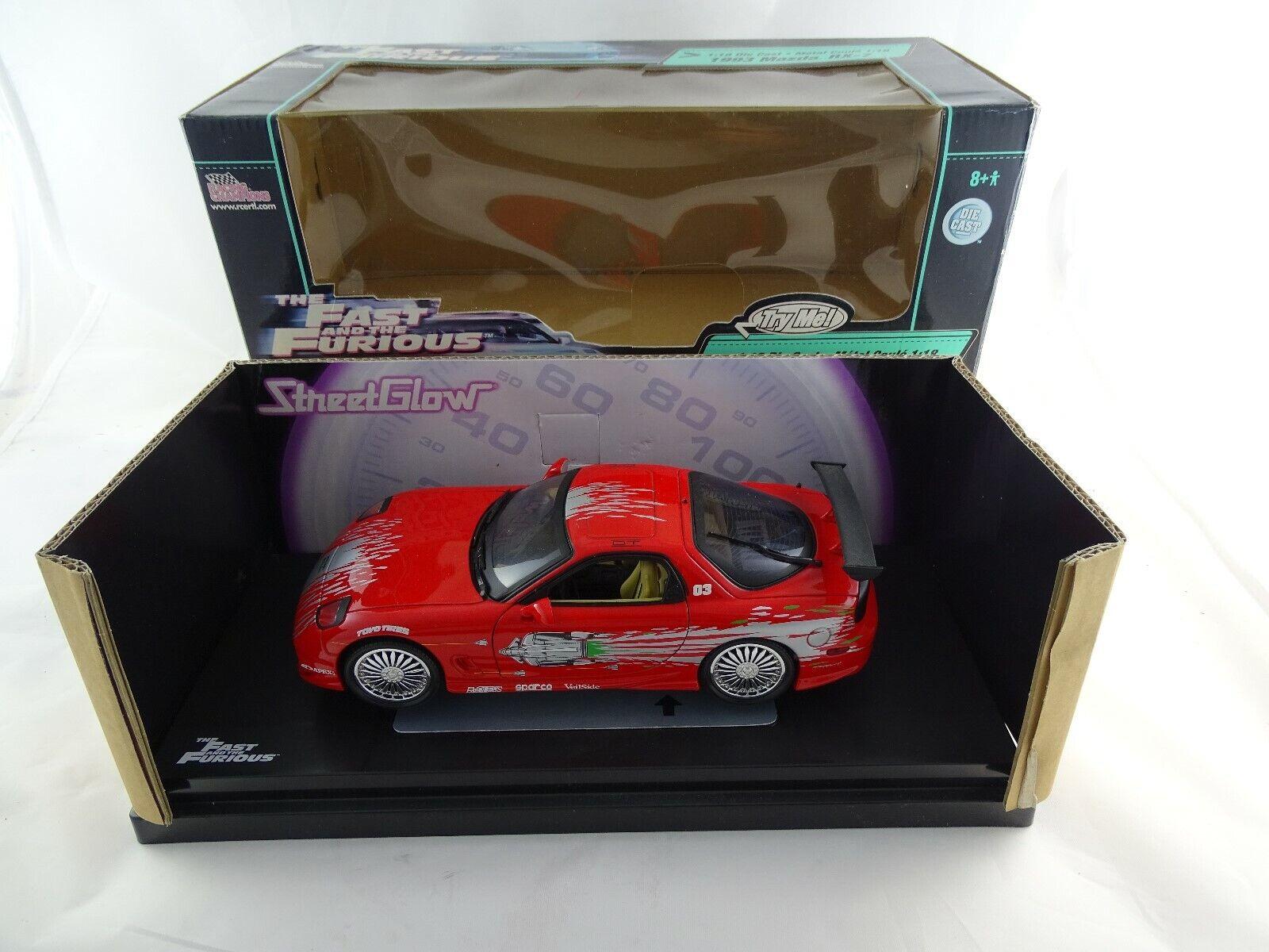 suministro de productos de calidad 1 18 ertl  street Glow  1993 Mazda rx7 rx7 rx7 Fast & Furious con bajo la luz de suelo  diseño único