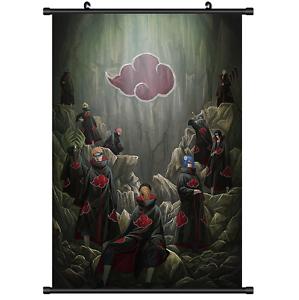 Naruto akatsuki wall scroll decor