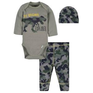 Pants /& Cap Baby Shower Gift NWT GERBER BABY BOYS 3-Piece Essentials Set Onesie