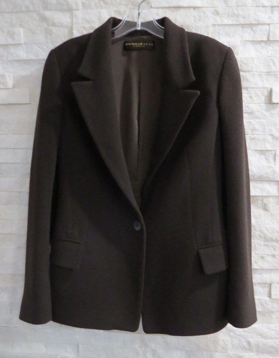 women Karan Signature  Brown Wool Cashgora Single Button Blazer 6 ITALY