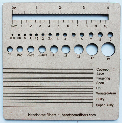 Knitting Swatch Gauge