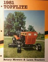 Mtd 1981 Lawn Tractor & Walk Behind Mowers Full Color Sales Brochure Manual 12pg