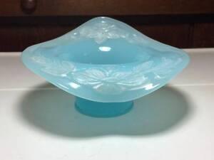 Antique-Fenton-Persian-blue-art-glass-bowl