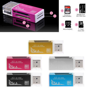 Aluminium-All-In-One-USB-2-0-Multi-Memory-Card-Reader-For-SD-SDHC-MMC-TF-MS-M2