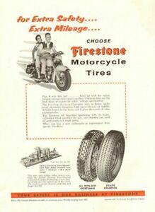 1955 Firestone Motorcycle Tires Vintage Ad Ebay