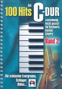100-Hits-in-C-Dur-Band-2-leicht-gesetzt-fuer-Keyboard-Klavier-Gitarre