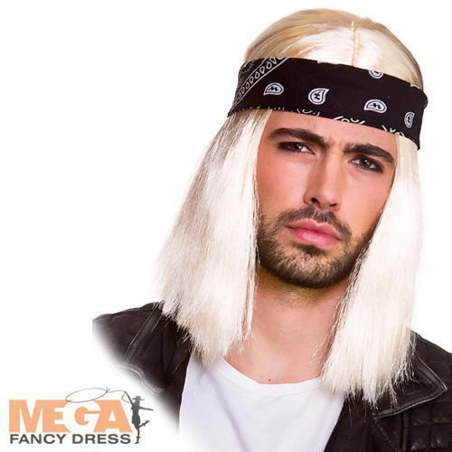 Mens Kurt Cobain Style Long Blonde Grunge Wig