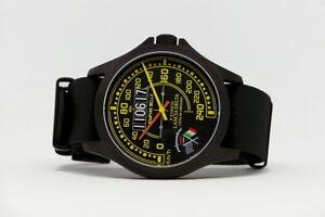 Orologio-Lancia-Delta-Limited-Edition-Watch-Cassa-PVD-44mm-Nato-Strap-Black