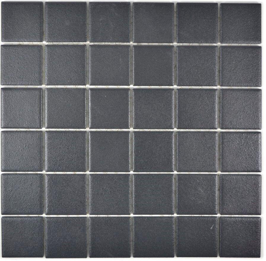Mosaik Fliese Keramik schwarz rutschhemmend Küche Dusche  - Art  14-0311-R10_f