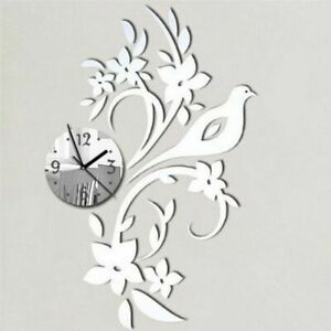 Wall-Clock-Acrylic-Mirror-Bird-Floral-Designed-Home-Living-Room-Decoration-Watch