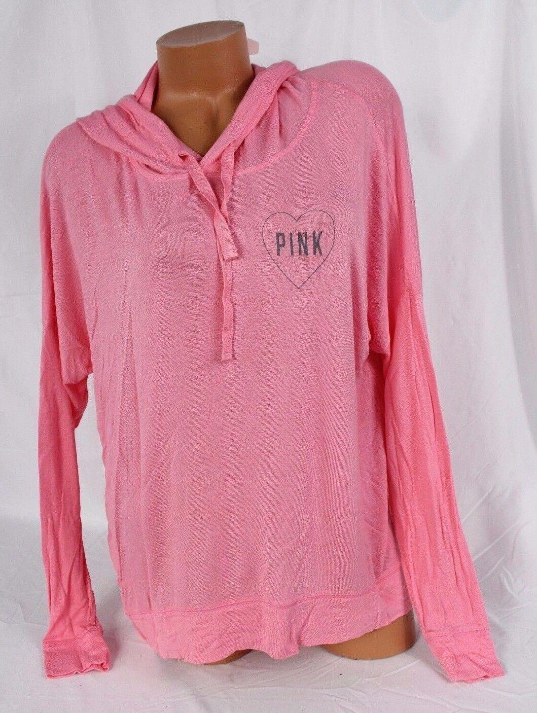 Victoria's Secret PINK sz S soft, stretchy oversized lightweight Hoodie, heart