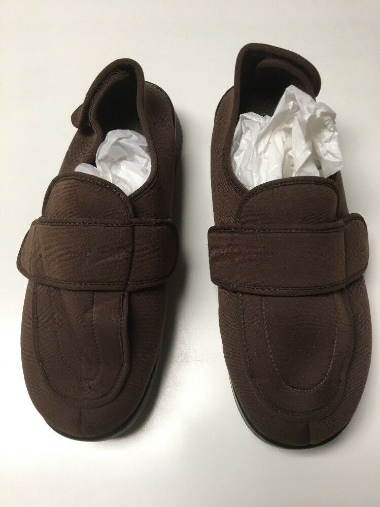 Propet M0095 Mens Cronus Stretch Slip On shoes Slippers Brown Diabetic Size 8.5