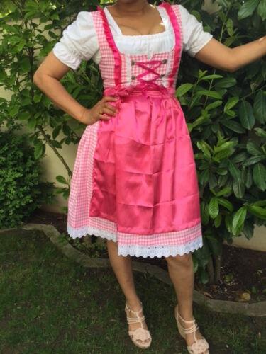 TRACHTENKINI Wunderschönes 3-tlg.Damen Dirndl Gr.34-44 pink//weiss NEU!