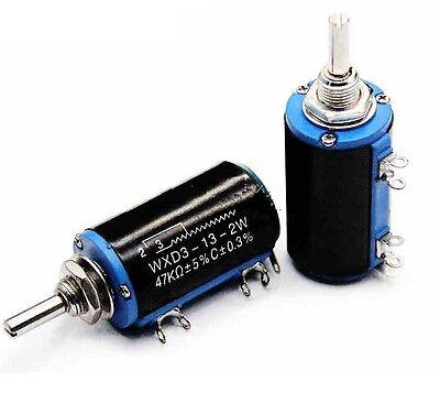 New WXD3-13-2W Rotary Multiturn Wirewound 1K ohm Potentiometer with Knobs