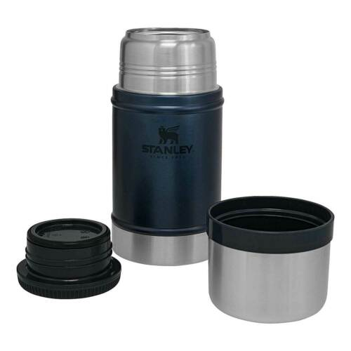 Stanley Classic Blue Large 0.7L 24oz Vacuum Food Jar Flask Hot or Cold Thermos