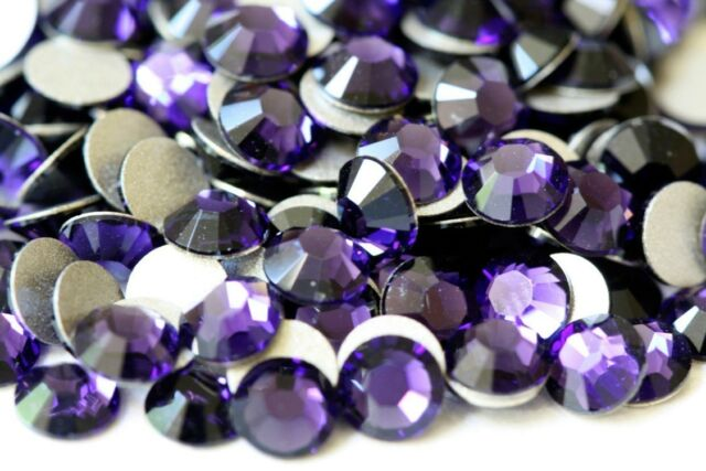 PURPLE VELVET Swarovski 2058 Crystal Flatback Rhinestones 72 Pieces 20ss 5.0mm