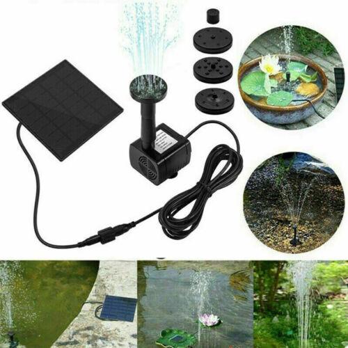 Solar Power Fountain Submersible Water Pump Garden Pond Pool Bird Bath Outdoor A