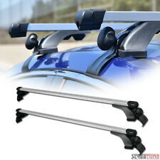 "Silver 50"" Square Adjustable Window Frame Roof Rack Rail Cross Bars Luggage S7"
