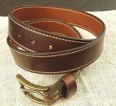 "Horween Brown Chromexcel Men/'s Leather Belt 1-1//2/"" Wide Quality Handmade Custom"