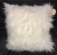 Cynthia Rowley 20 X 20 Ivory Square Faux Fur Throw Pillows-set 2