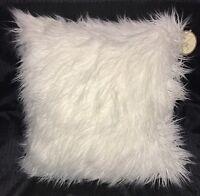 Cynthia Rowley 20 X 20 Ivory Square Faux Fur Throw Pillows-set 2